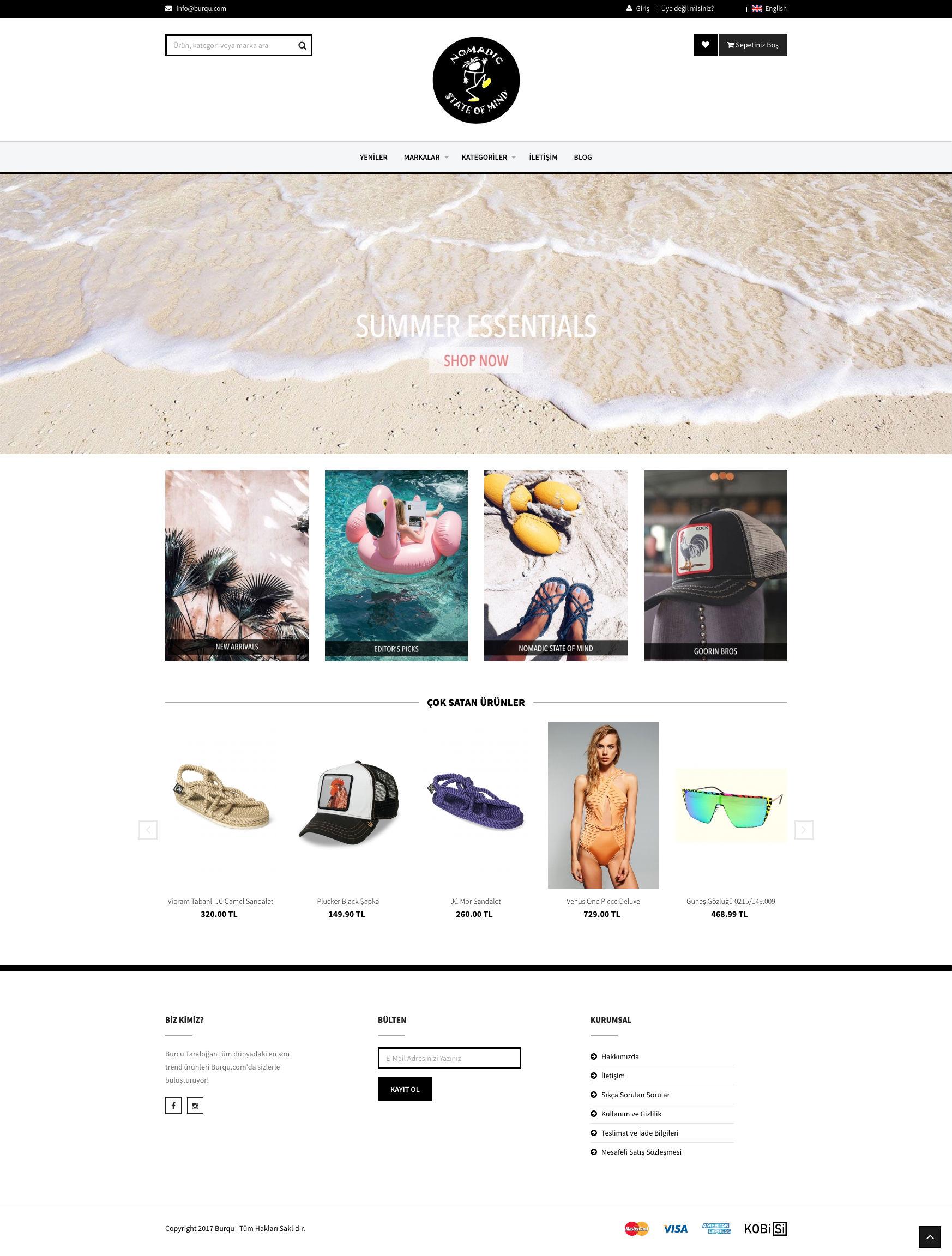 Burqu.com E-ticaret sitesi